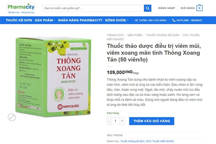 Giá thuốc TXT tại pharmacity.vn