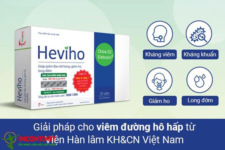 Hình ảnh thuốc trị viêm họng Heviho