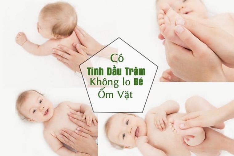 Tác dụng của dầu tràm cho bé